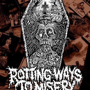 ROTTING WAYS TO MISERY: THE HISTORY OF FINNISH DEATH METAL hardback book (PREORDER) Books