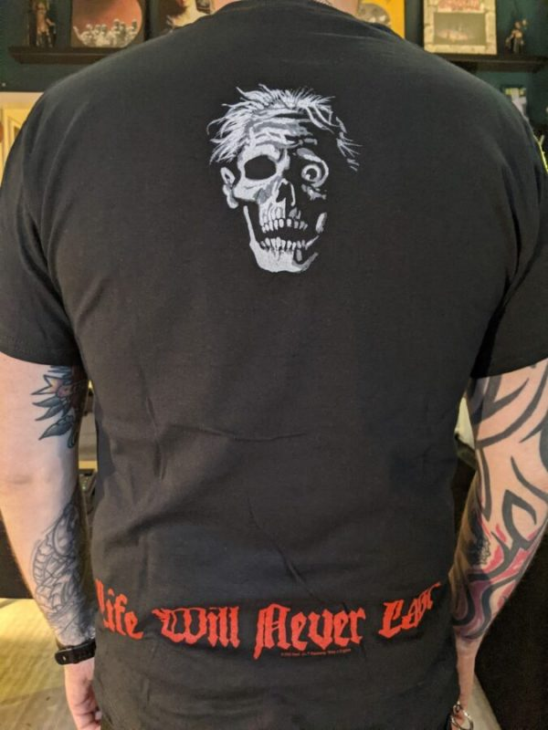 death life will never shirt back