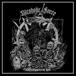 "ALCOHOLIC FORCE – Worshippers Of Hell MLP + bonus CD 12"" Vinyl Records"