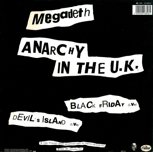 MEGADETH – Anarchy in the UK
