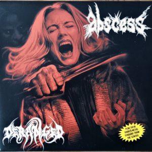 ABSCESS / DERANGED split 10″ vinyl (2nd hand) 2nd Hand Vinyl EP