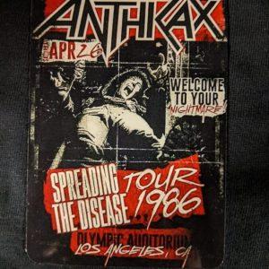 ANTHRAX – Tour 1986 Flyer Magnet Magnets