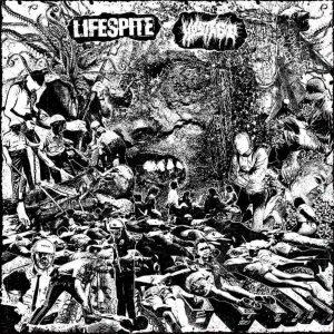 "LIFESPITE / HOSTAGE – split LP 12"" Vinyl Records"