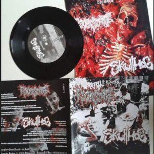 "REGURGITATE / SKULLHOG – split 7″ 7"" Vinyl Records"