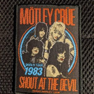 MÖTLEY CRÜE – Shout At The Devil Tour '83 Patch Patches