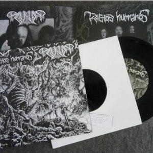 "RESTOS HUMANOS / PAGANIZER – split 7″ 7"" Vinyl Records"