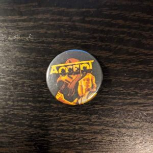 ACCEPT – Vintage Button Pin Pins & Enamel Pins