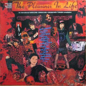 V/A  – The Pleasures In Life 1989 Nuclear Blast Compilation LP (2nd hand) 2nd Hand Vinyl LP