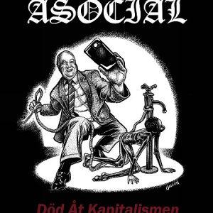 "ASOCIAL – Död Åt Kapitalismen LP 12"" Vinyl Records"