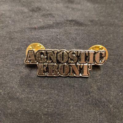 AGNOSTIC FRONT – Logo Enamel Pin Pins & Enamel Pins