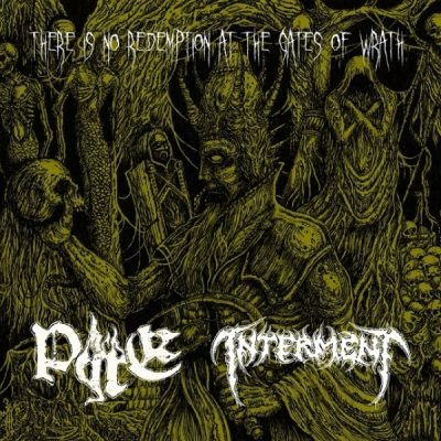 """PYRE / INTERMENT – There is No Redemption at the Gates of Wrath 7"""" 7"""" Vinyl Records"""
