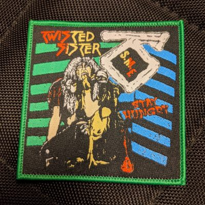 TWISTED SISTER – Stay Hungry patch (green border) Patches