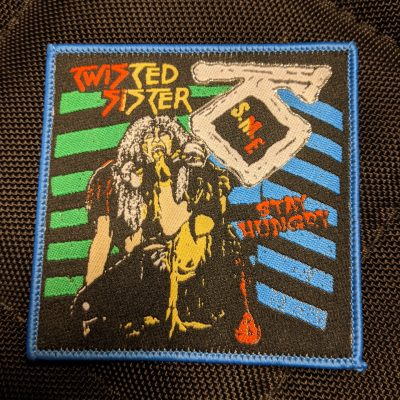 TWISTED SISTER – Stay Hungry patch (blue border) Patches