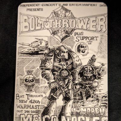 BOLT THROWER – Mcgonagle's – Flyer Magnet Magnets