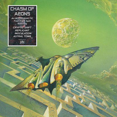 "CHASM OF AEONS – Four-way split LP 12"" Vinyl Records"