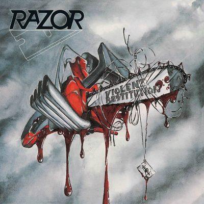 "RAZOR – Violent Restitution LP (Marbled vinyl) 12"" Vinyl Records"