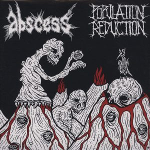 Abscess  /  Population Reduction  12″ vinyl (2nd hand) 2nd Hand Vinyl LP