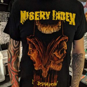 MISERY INDEX – I Disavow T-shirt T-shirts