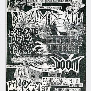 Napalm Death – Old School Flyer Magnet Magnets